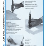 Pafra handlijmappraat voor het eenvoudig aanbrengen van koudlijm